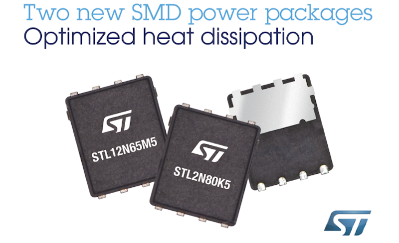 STMicro's smaller & tough 650V and 800V MOSFETs leverage power package innovation