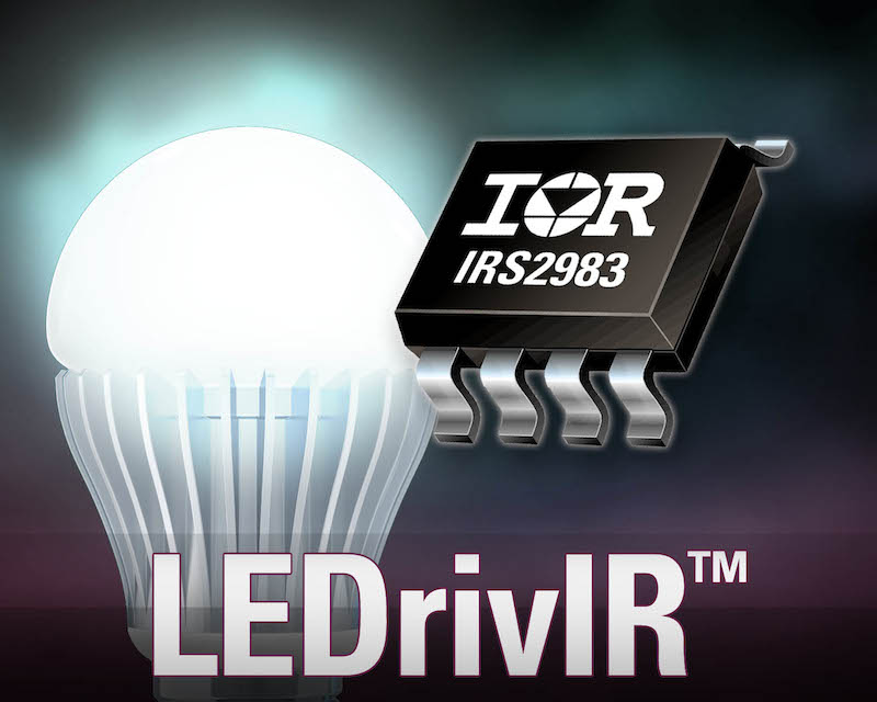 IR's LEDrivIR control IC simplifies design, reduces part count