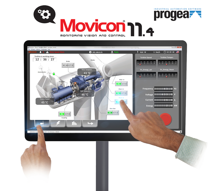 Progea expands multitouch functionality in Movicon 11.4
