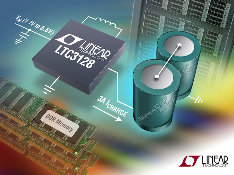 Buck-boost 3A supercapacitor charger features active capacitor balancing for fast charging