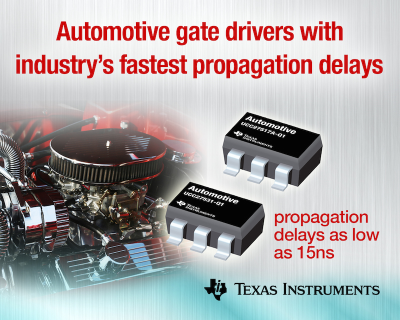 TI drives power efficiency in automotive with ultra-fast gate drivers