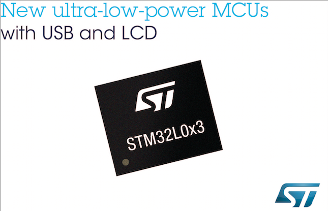 STMicroelectronics' STM32 ultra-Low-Power microcontrollers serve consumer, health, and industrial apps