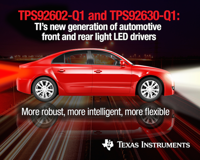 TI introduces next-gen automotive LED drivers