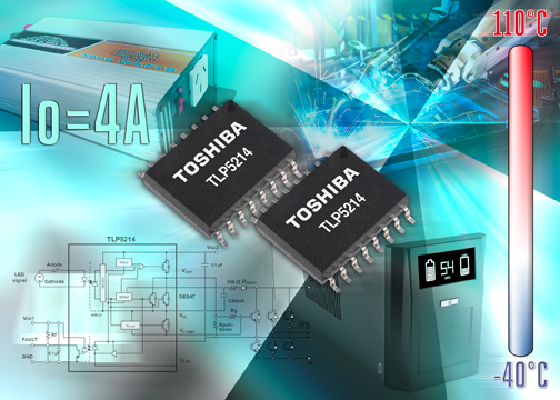 Toshiba launches 4A protection function smart gate driver photocoupler