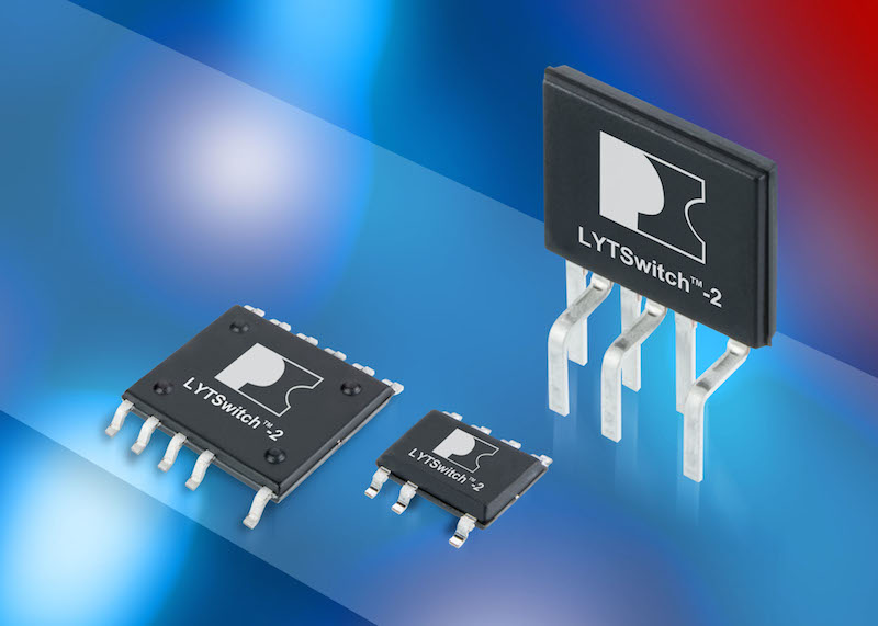 LYTSwitch-2 isolated LED-driver ICs from Power Integrations tout output power and accuracy