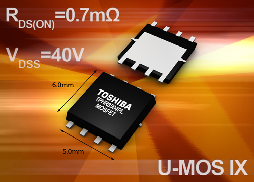 Toshiba launches their next-gen low-voltage MOSFETs