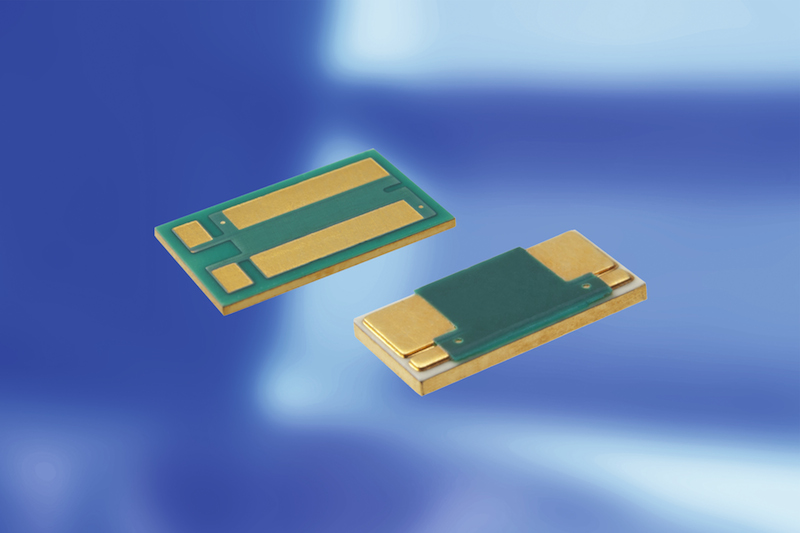 Isabellenhütte's PMH-D and PLU gold-plated bondable resistors mount with conductive adhesive