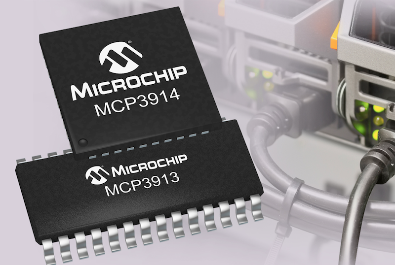 Microchip unveils energy-measurement analog front ends