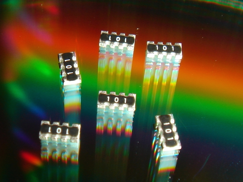 Stackpole's RAVF convex chip resistor arrays offer 40% size reduction