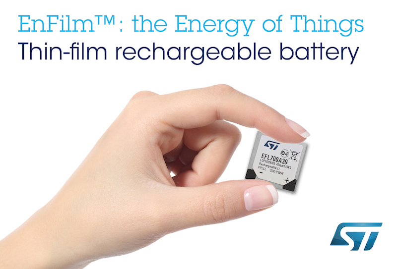 Long-life paper-thin batteries from STMicro target tomorrow's tiny tech