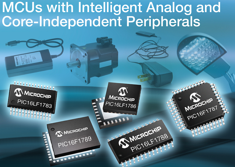 Microchip's expanded 8-bit PIC microcontroller family has intelligent analog integration