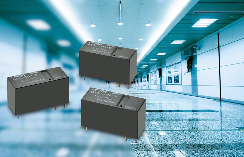 Omron's latest lighting control relay features high inrush current capability