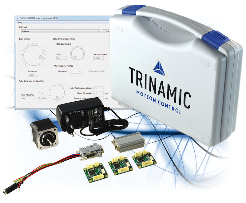 TRINAMIC's development kit for popular stepper motors touts intuitiveness