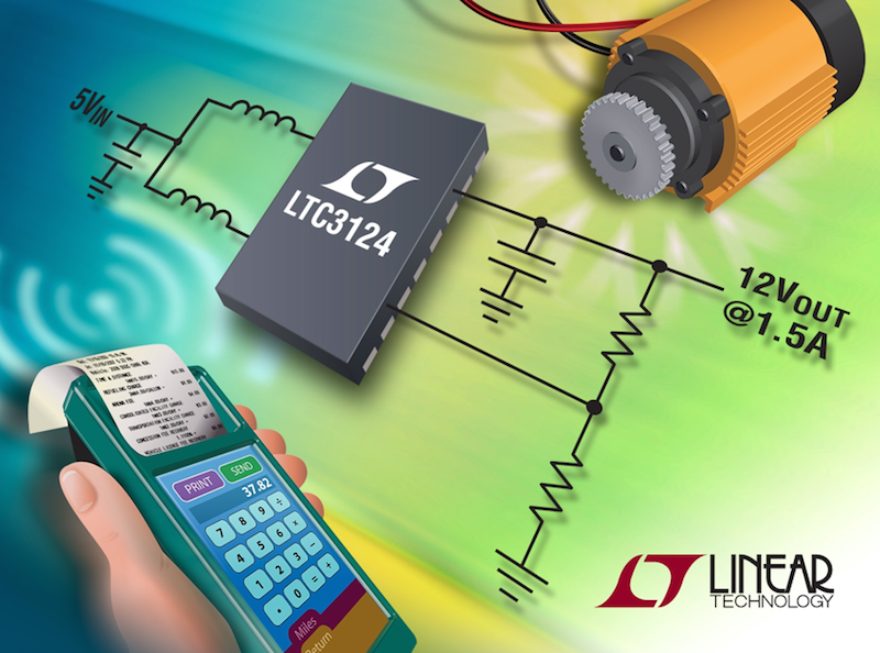 Linear's 5A, 15V 2-phase synchronous-boost regulator achieves 95% efficiency
