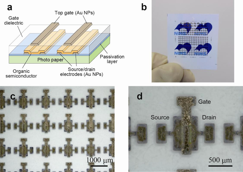 Conductive nanoparticle ink for printed electronics needs no high-temperature annealing