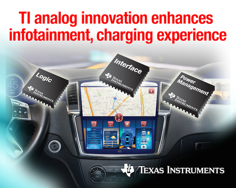 TI enhances in-vehicle infotainment and charging experience