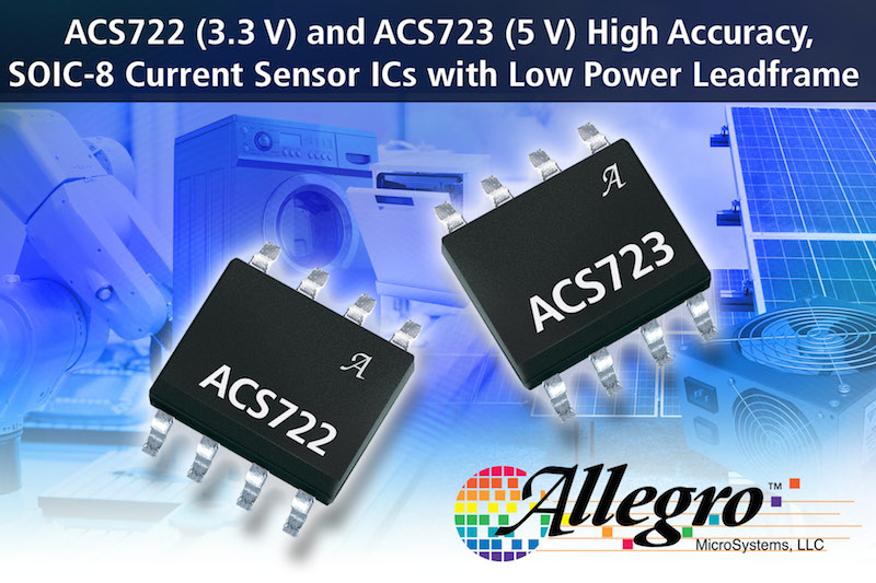 Allegro MicroSystems unveils their latest high-accuracy current-sensor ICs
