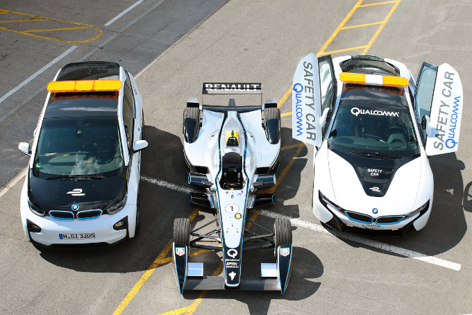Formula E course cars to be equipped with Qualcomm wireless charging