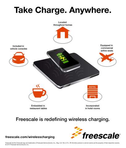 Freescale introduces novel family of programmable wireless charging solutions