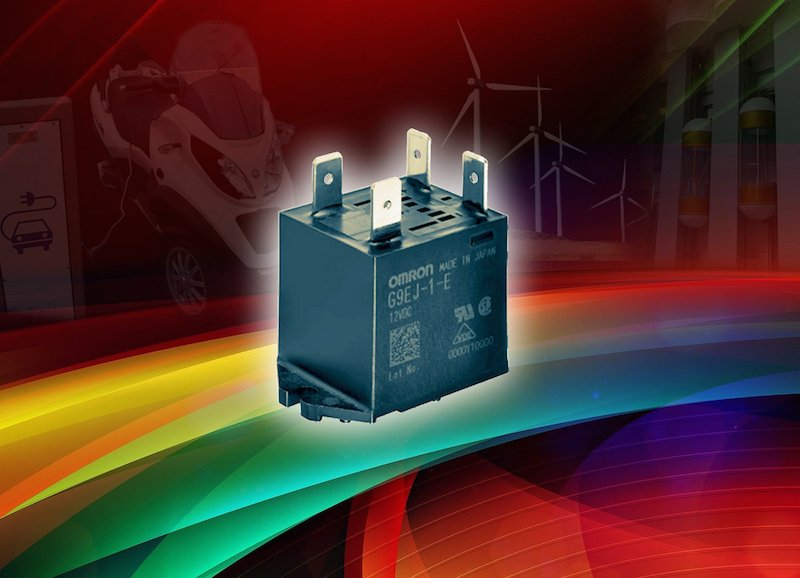 Omron launches efficient high-power DC relay