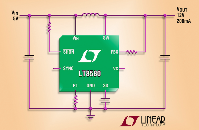 Linear's latest boost-inverter DC/DC converter handles input sources from a single-cell Li-ion to automotive inputs