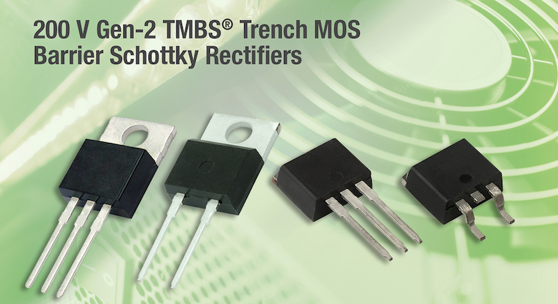 Vishay's latest rectifiers offer high efficiency for telecom and LED lighting