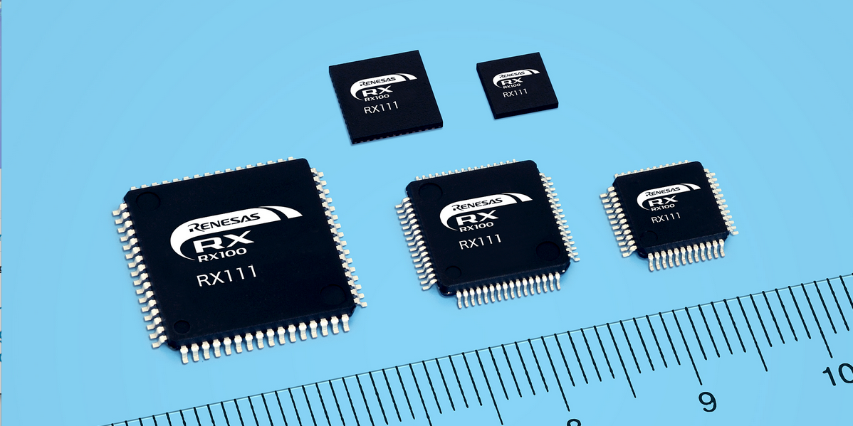 Renesas' low-power RX111 mmicrocontrollers in the 32-Bit RX family offers up to 512 KB of memory