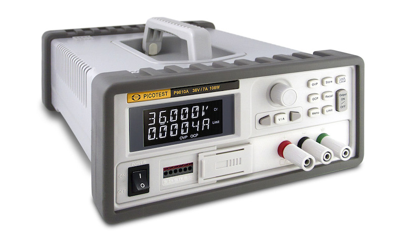 Piocotest's latest programmable supplies offer continuous autoranging and power-sequencing capability