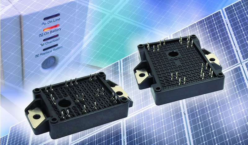 Vishay's IGBT power modules provide complete integrated solution for solar inverters and UPS