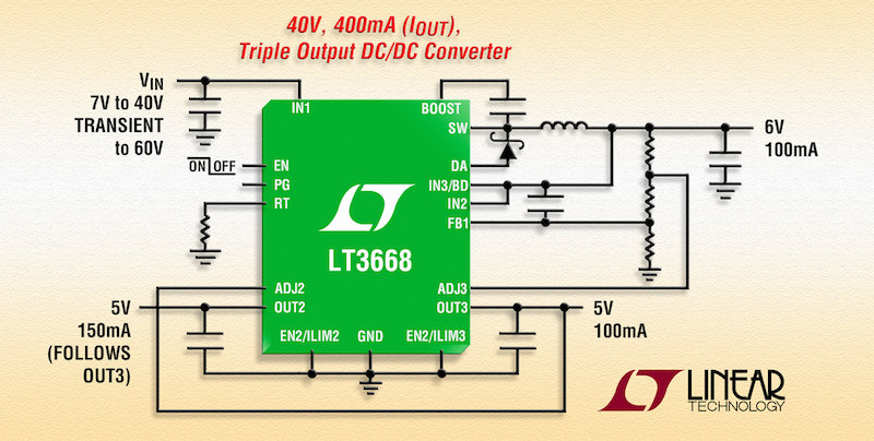 Linear's latest step-down regulator offers dual tracking LDOs