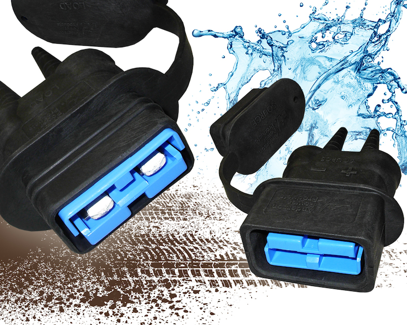 Environmental boot provides water, dirt, chemical and UV protection to APP's SB 50 and SB 120 connectors