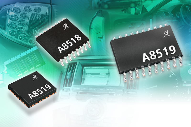 Allegro's multi-output LED driver ICs offer fault-tolerant protection