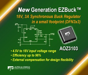 Alpha and Omega Semi launches latest EZBuck regulator in a thermally-enhanced package