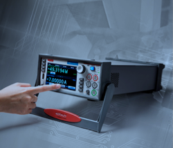 Keithley's touchscreen source measure unit offers higher current sourcing and measurement for a broader range of applications
