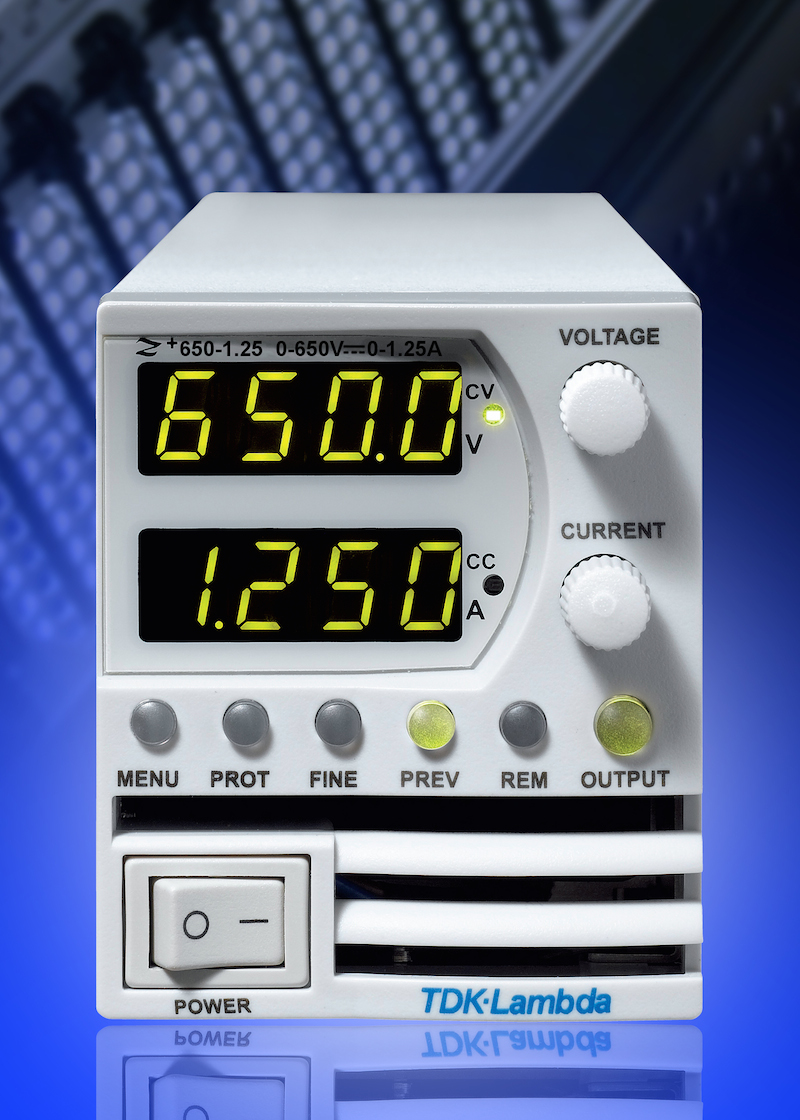 TDK adds 800W model to the TDK-Lambda Z+ series of high-voltage programmable DC power supplies