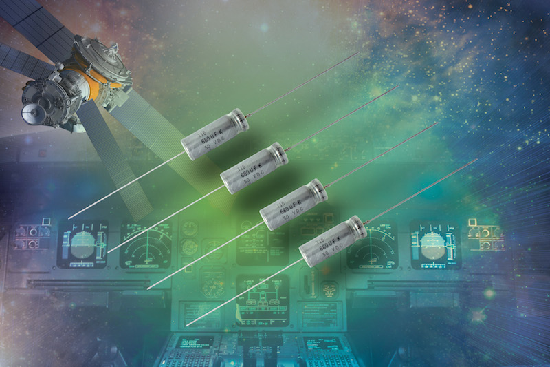 Vishay T16 Series wet tantalum capacitors now at TTI