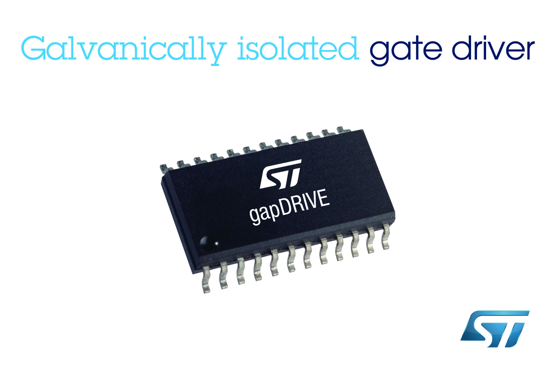 STMicro's gapDRIVE integrated gate drivers offer on-chip galvanic isolation
