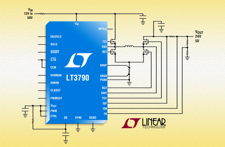 Linear's LT3790 synchronous buck-boost DC/DC controller delivers up to 250W