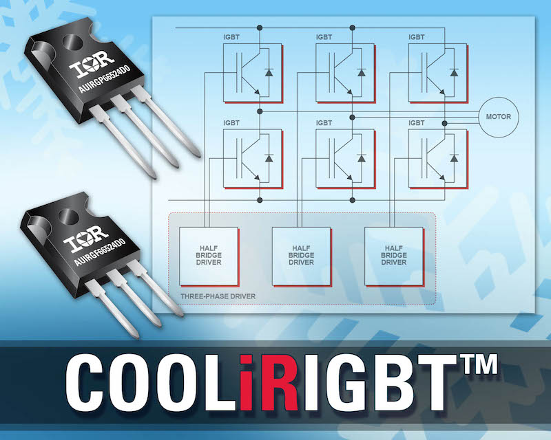 IR introduces rugged automotive-qualified 600V IGBTs for hybrid and electric vehicles