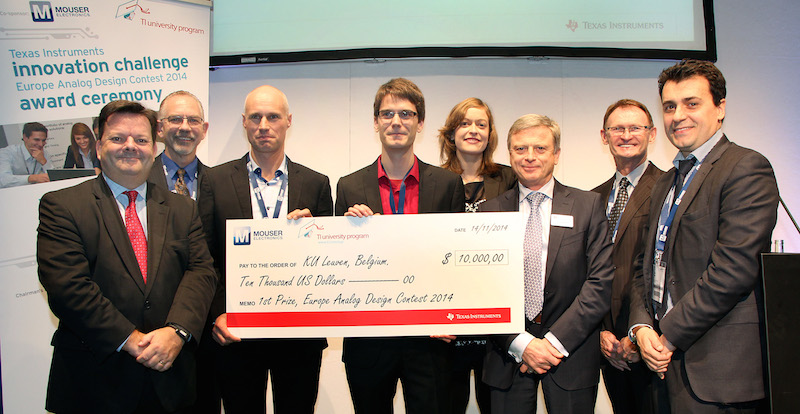 Mouser awards $10,000 prize to winners of TI's Innovation Challenge Europe 2014