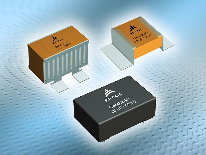 EPCOS CeraLink capacitors offer compact solution for converters