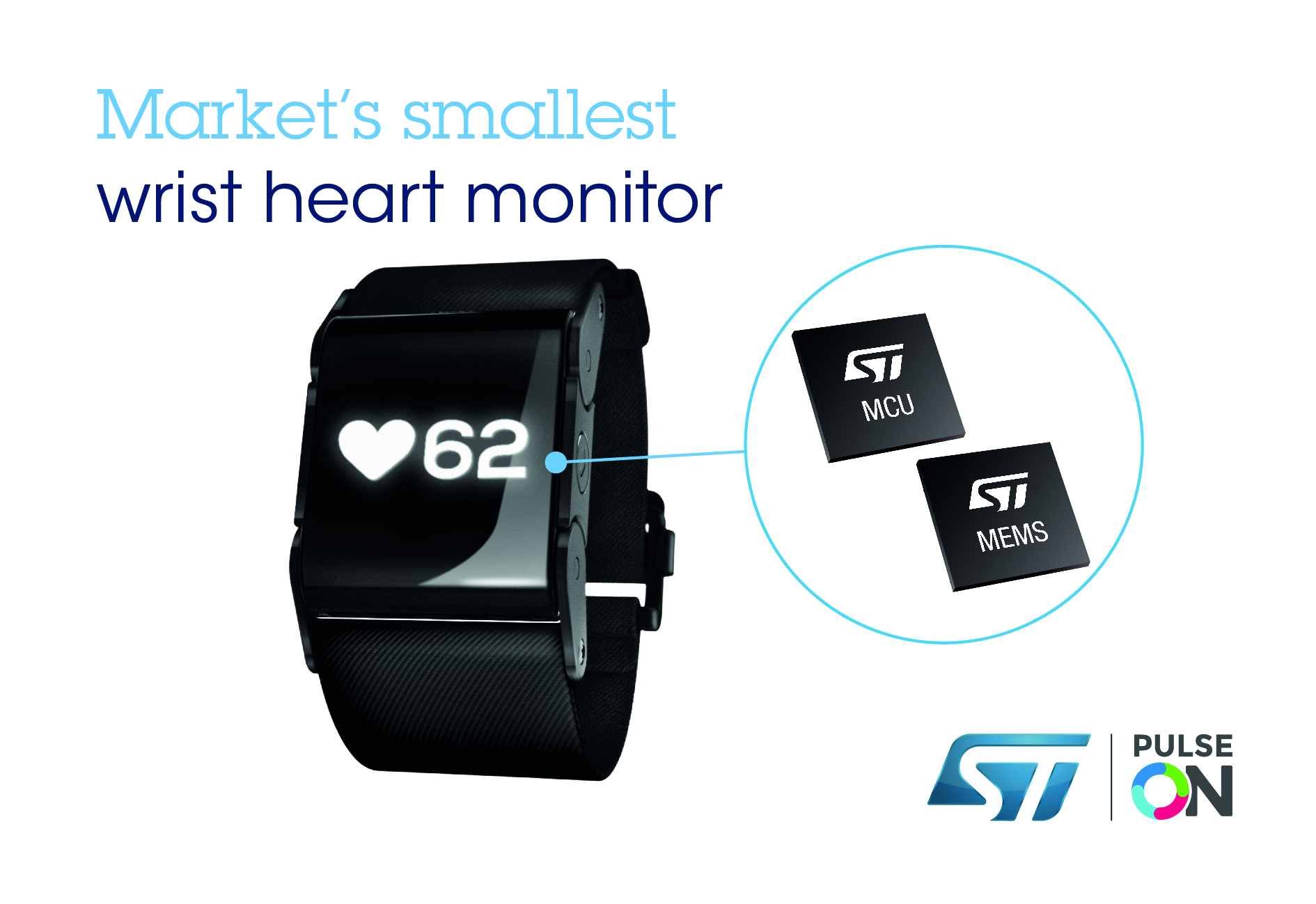 ST Chips Capture the beat in the smallest wearable heart monitor