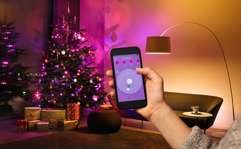 Smart lighting for Christmas trees