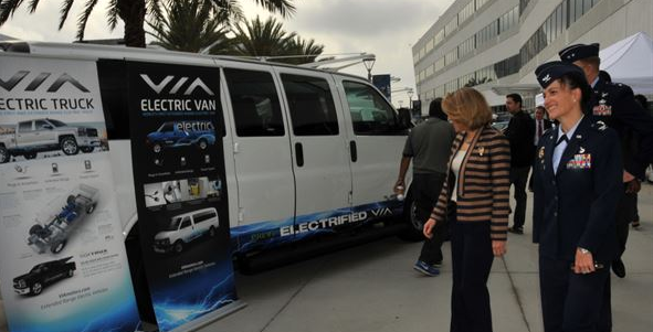AF tests first all-electric vehicle fleet in California