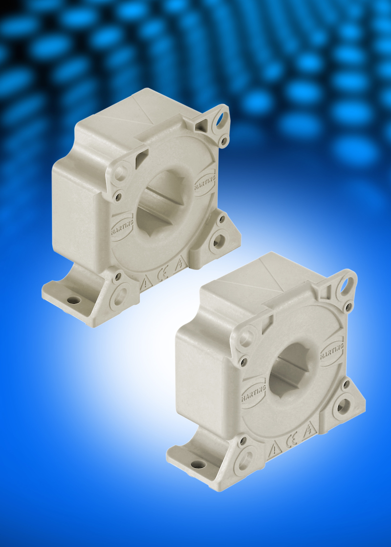HARTING's compact hall-effect current sensors serve 200A and 300A current ranges