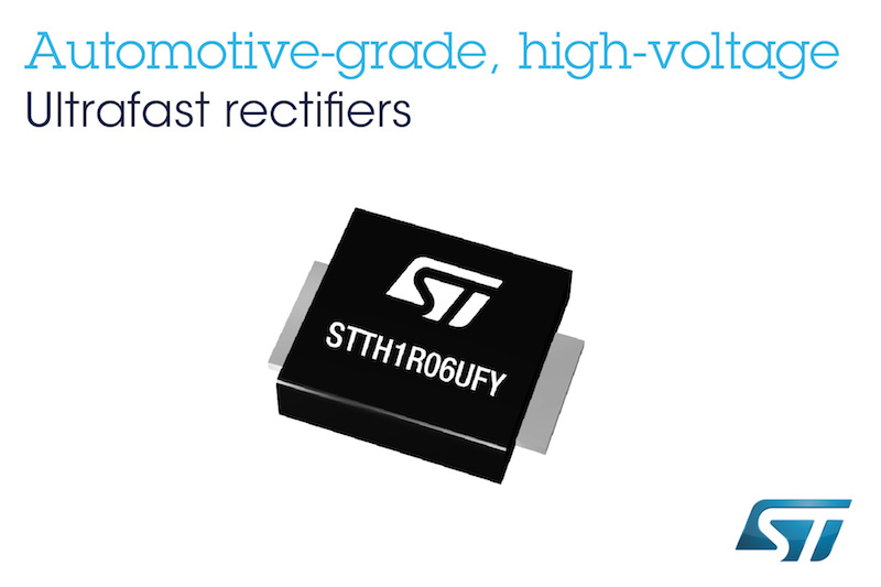 Super-slim rectifiers from STMicro save space, weight, and energy