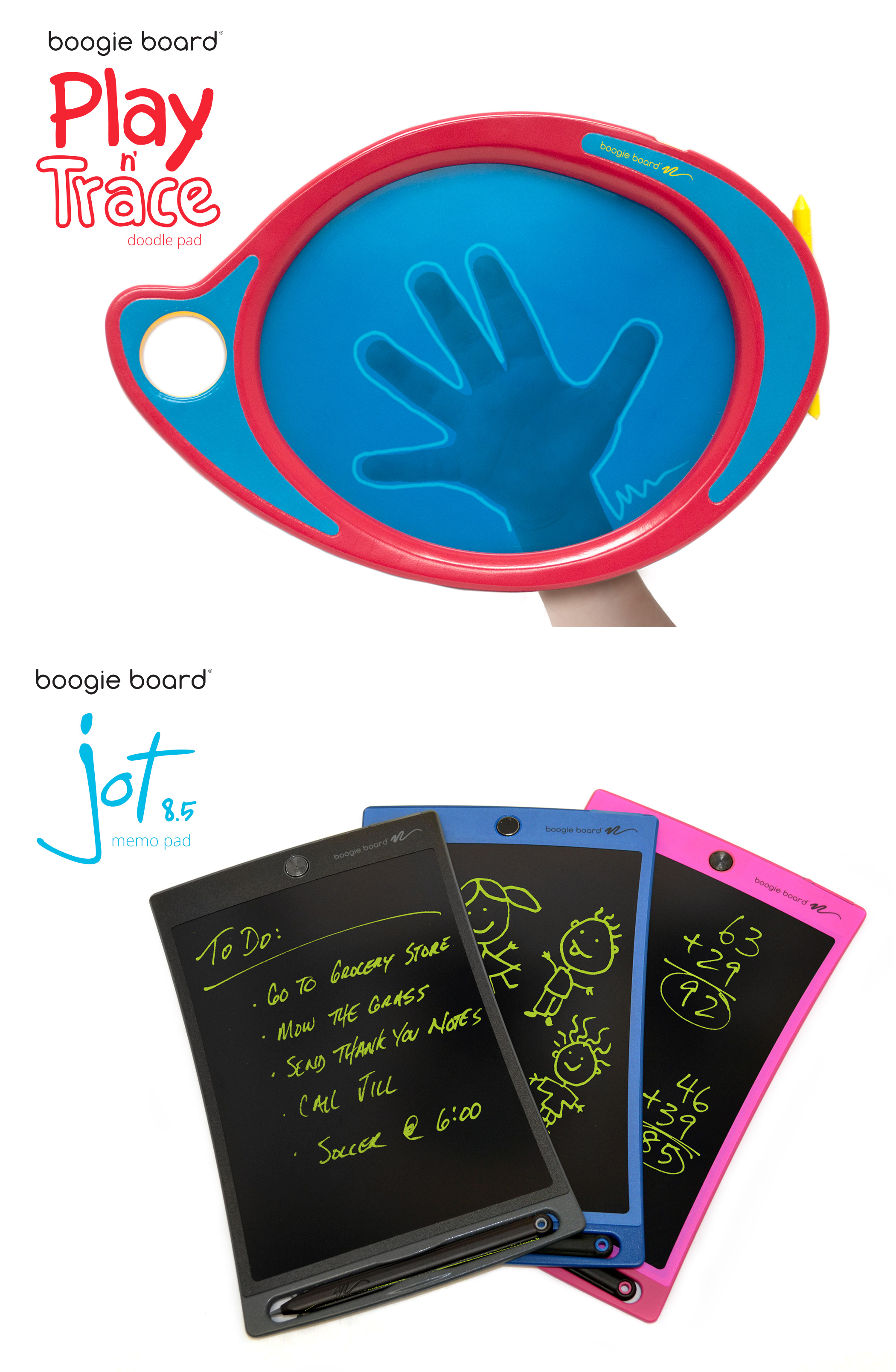 Kent Displays unveils their latest Boogie Board LCD eWriters at CES 2015