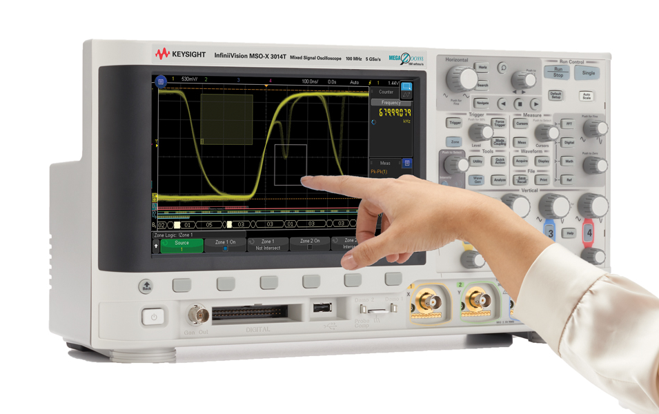 Keysight claims first mainstream oscilloscopes with capacitive touch screens & zone triggering