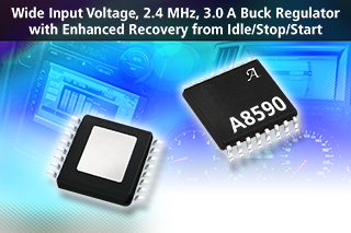 Allegro MicroSystems' latest 3A buck regulator offers low VIN dropout