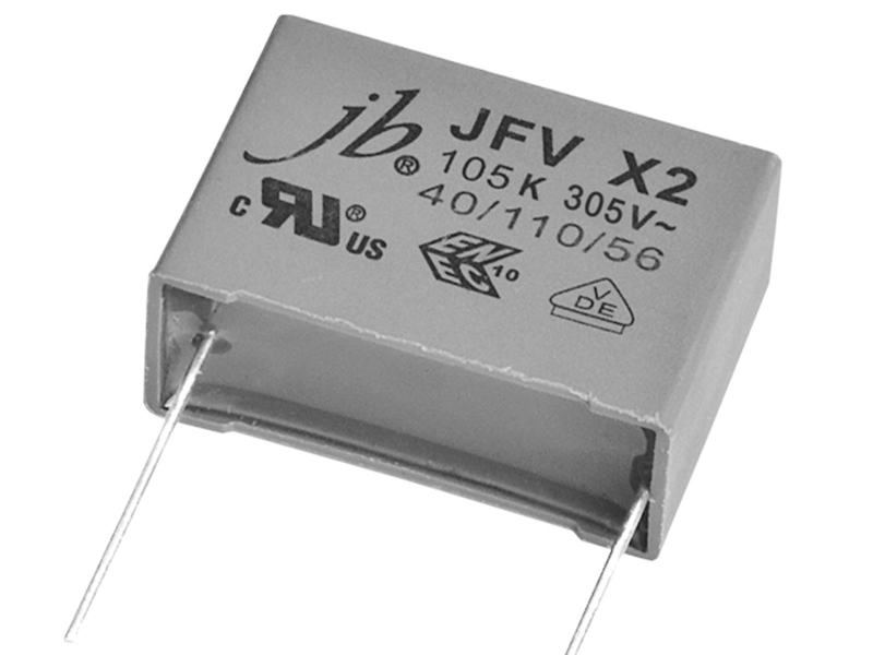 jb Capacitors releases JFV series of X2 EMI suppression film capacitors